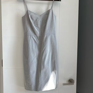 NWT Light Grey Banana Republic Strap Dress